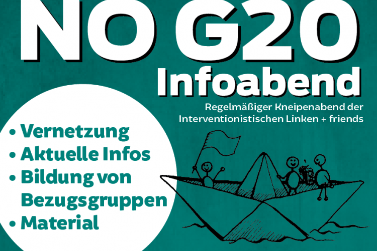 Gegen den G20-Gipfel in Hamburg im Juli 2017