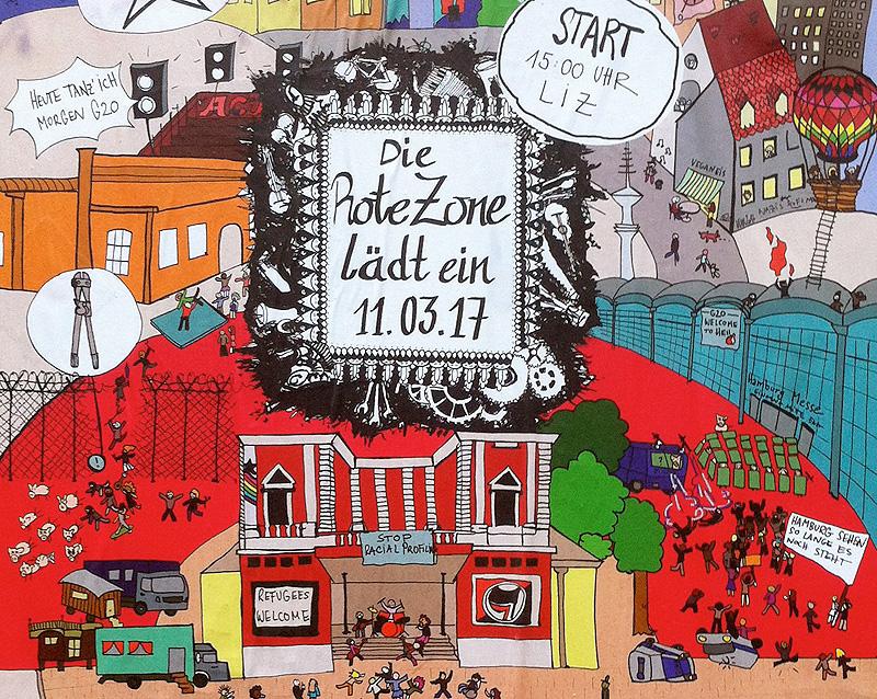 Die Rote Zone lädt ein. Protest gegen G20