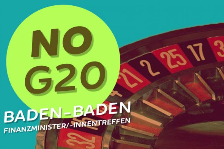 Demo gegen das G20-Finanzministertreffen in Baden-Baden