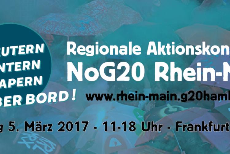 Regionale Aktionskonferenz NoG20  in Frankfurt am Main