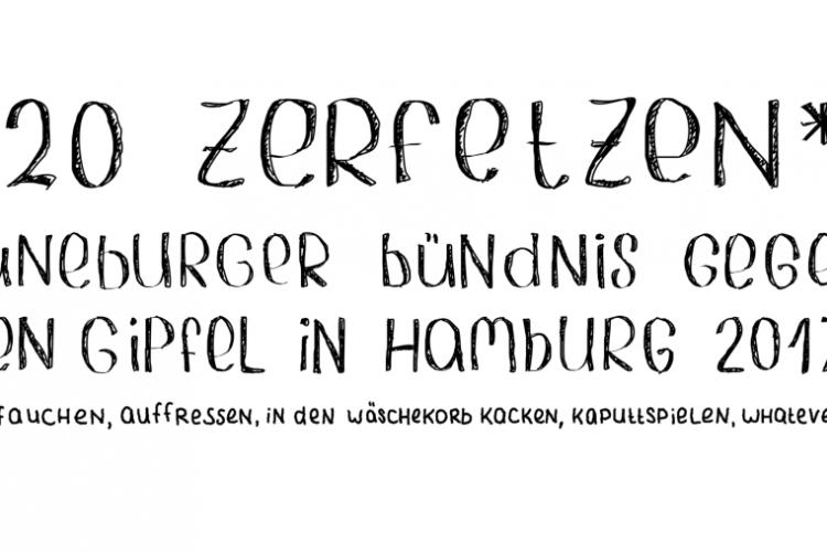Von Lüneburg nach Hamburg zu den Protesten gegen den G20-Gipfel