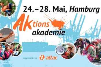 Attac-AKTIONSAKADEMIE 2017: 24.-28. Mai in Hamburg