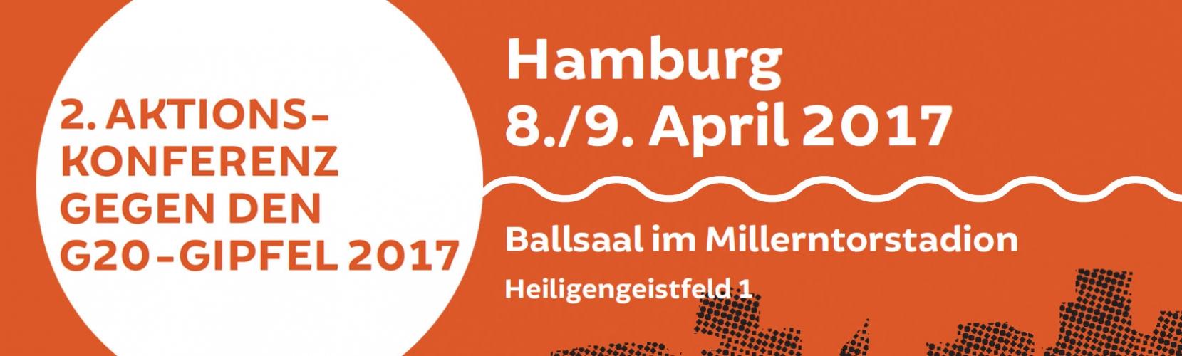 2. Aktionskonferenz gegen den G20-Gipfel in Hamburg