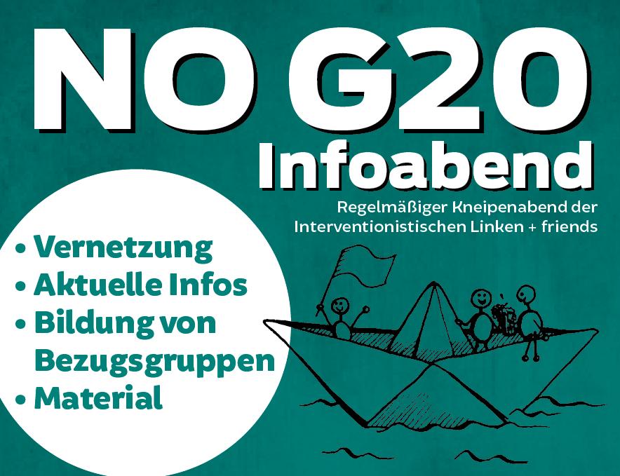 Infoabend gegen den G20-Gipfel in Hamburg im Juli 2017