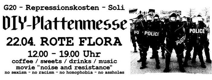 Hamburg: DIY-Plattenmesse, Prozesskosten G20