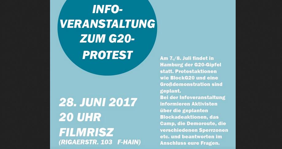 G20-Infoveranstaltung mit der IL Berlin