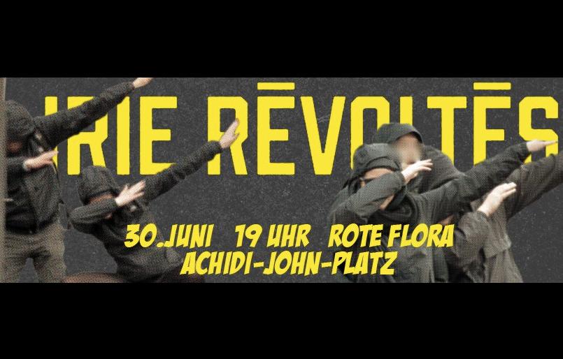 Konzert mit Irie Revoltes vor der Roten Flora gegen G20 in Hamburg